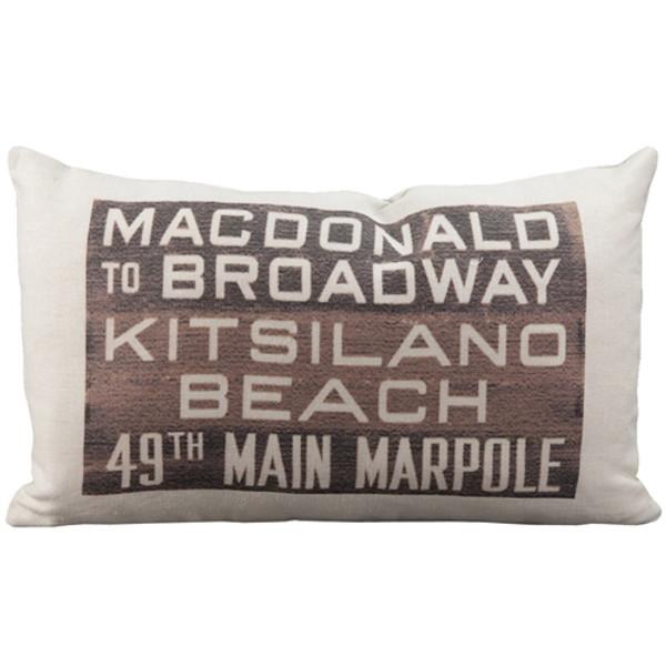 MacDonald Bus Scroll Throw Pillow