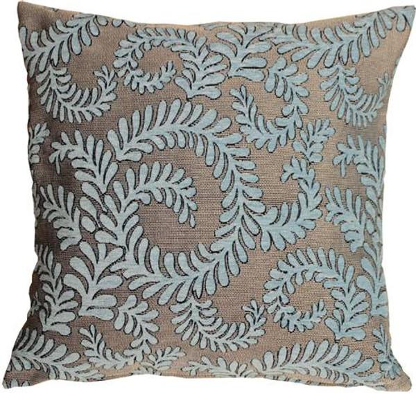 Brackendale Ferns Sea Blue Throw Pillow