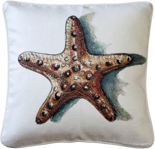 Ponte Vedra Star Fish Throw Pillow 20x20