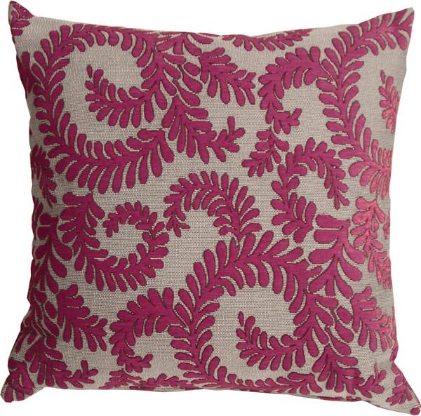Brackendale Ferns Pink Throw Pillow