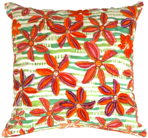Tahiti Flower Throw Pillow
