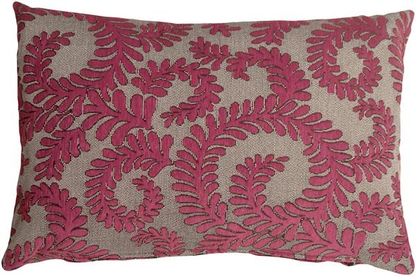 Brackendale Ferns Pink Rectangular Throw Pillow