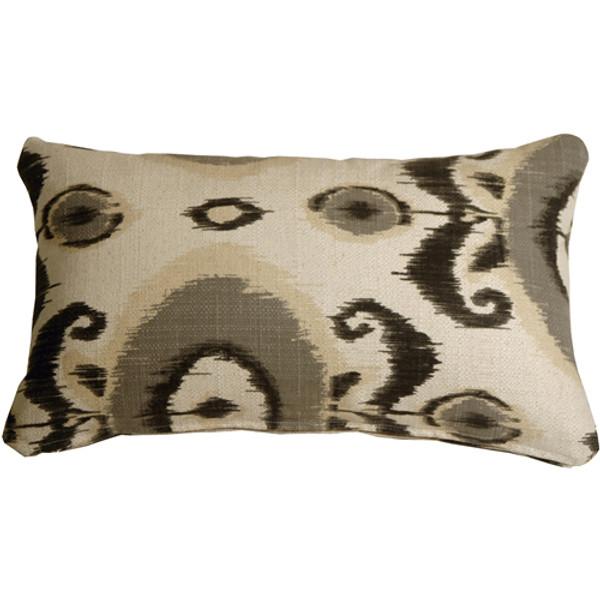 Bold Gray Ikat 12x20 Decorative Pillow
