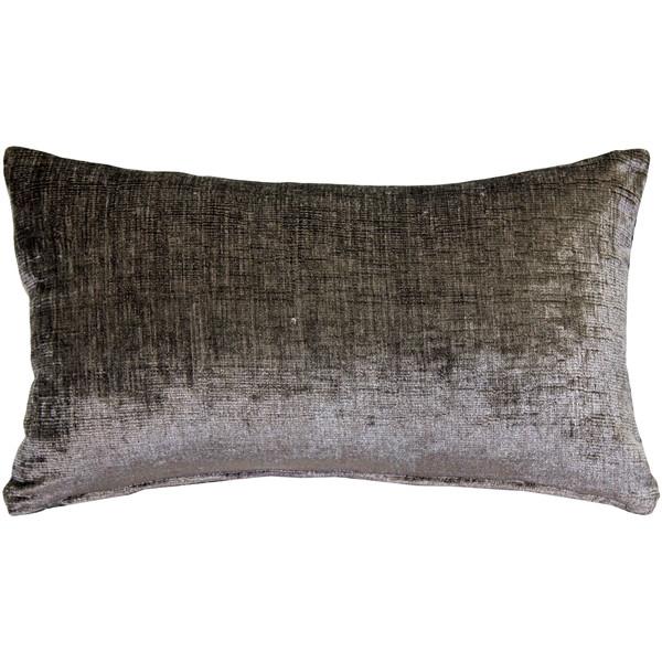 Venetian Velvet Cloud Gray Pillow 12x20