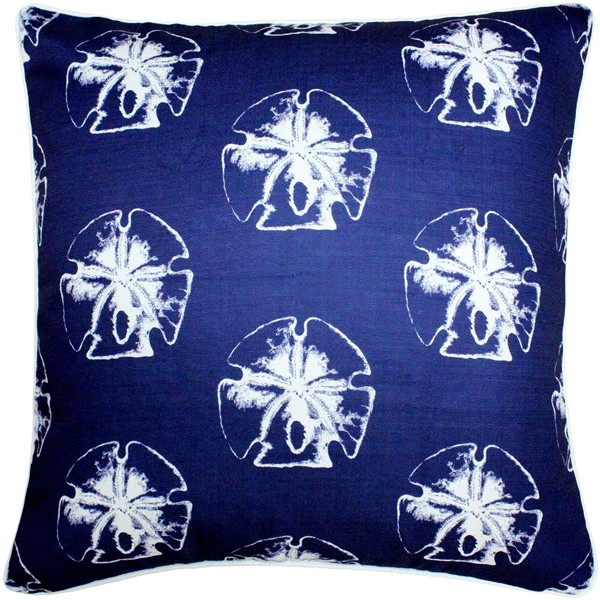 Hilton Head Sand Dollar Large Pattern Pillow 20x20