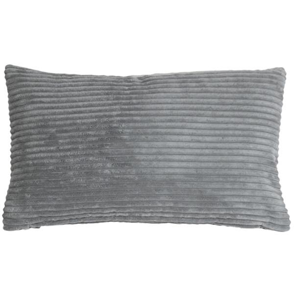 Wide Wale Corduroy Dark Gray 12x20 Throw Pillow
