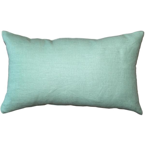 Tuscany Linen Aqua Green 12x19 Throw Pillow