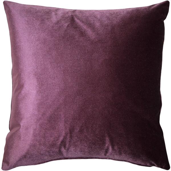 Corona Aubergine Velvet Pillow 16x16