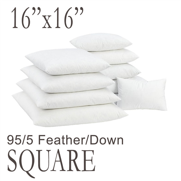 """16"""" Square Feather Down Pillow Form"""