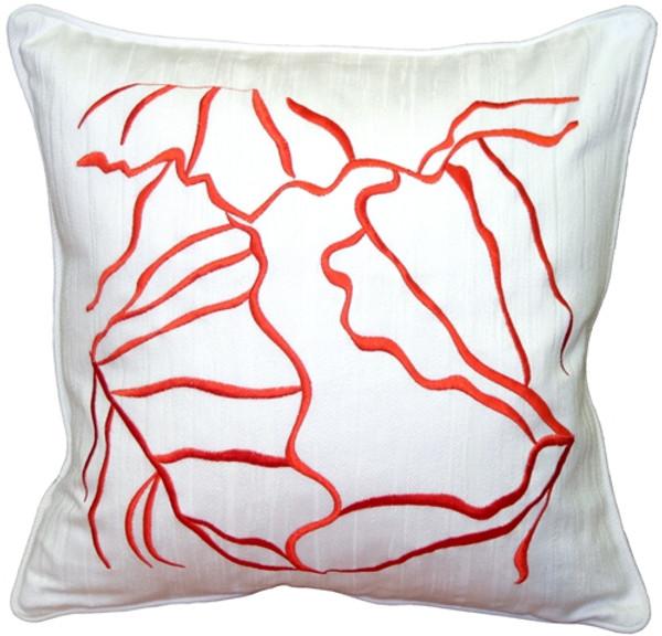 Summer Breeze Orange 20x20 Throw Pillow