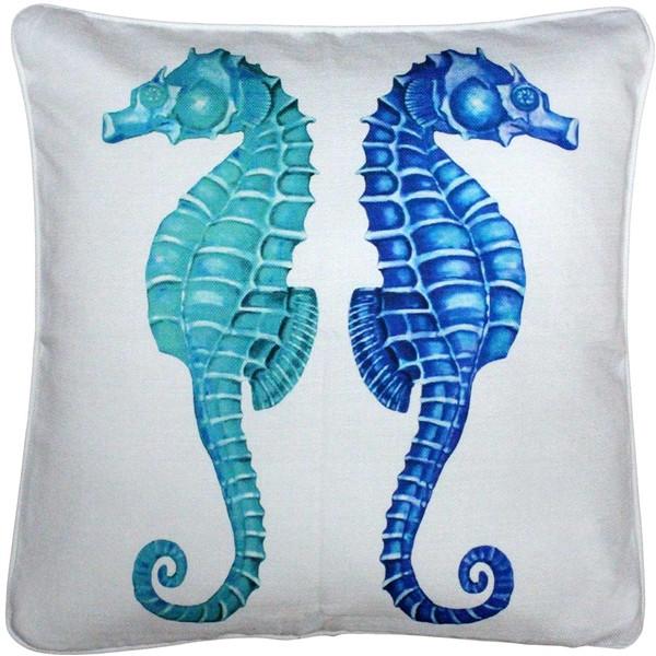 Capri Seahorse Reflect Throw Pillow 20x20