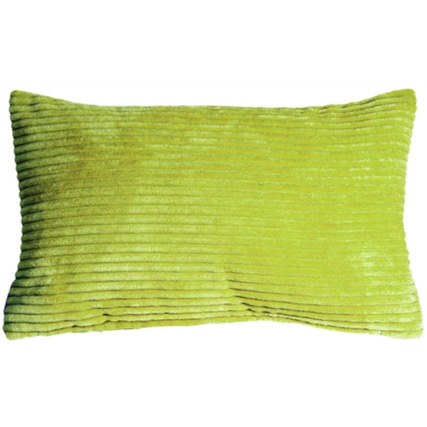 Wide Wale Corduroy 12x20 Apple Green Throw Pillow