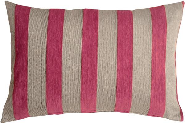 Brackendale Stripes Pink Rectangular Throw Pillow