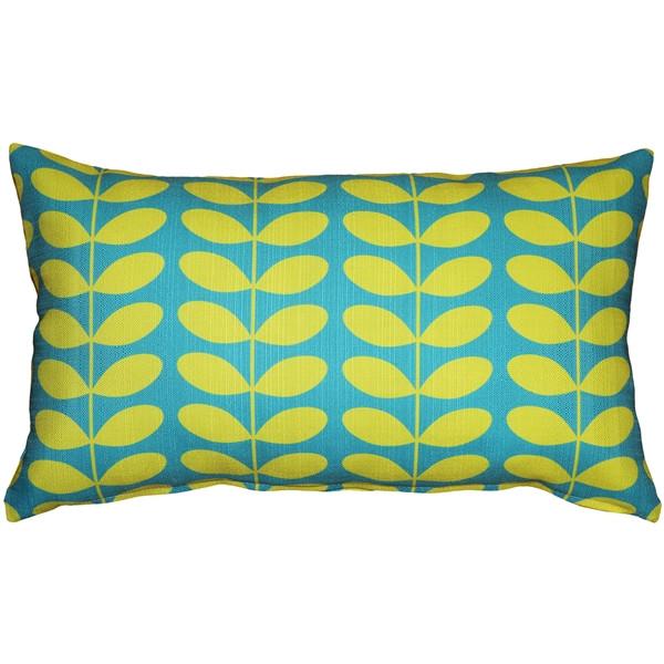 Mid-Centruy Modern Turquoise Throw Pillow 12x19