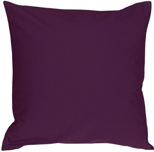 Caravan Cotton Purple 20x20 Throw Pillow