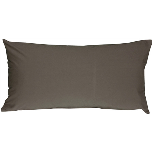 Caravan Cotton Dark Gray 9x18 Throw Pillow