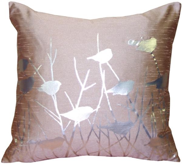 Pillow Decor's metallic birds desert sand graphic pillow