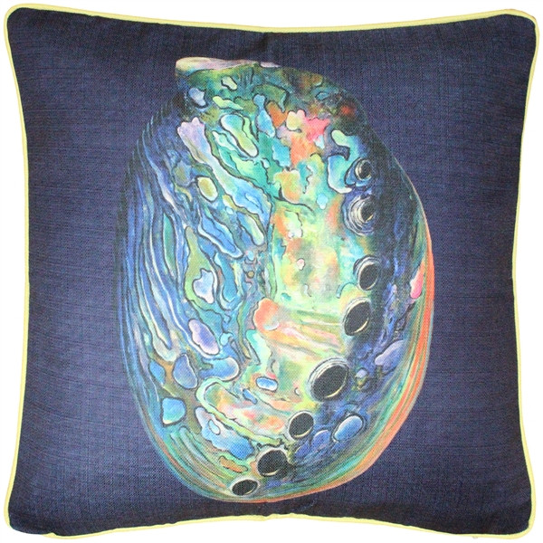 Shoal Cape Abalone Solitaire Throw Pillow 20x20