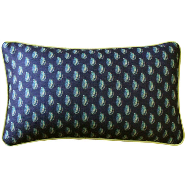Shoal Cape Abalone Tiny Scale Print Throw Pillow 12x20