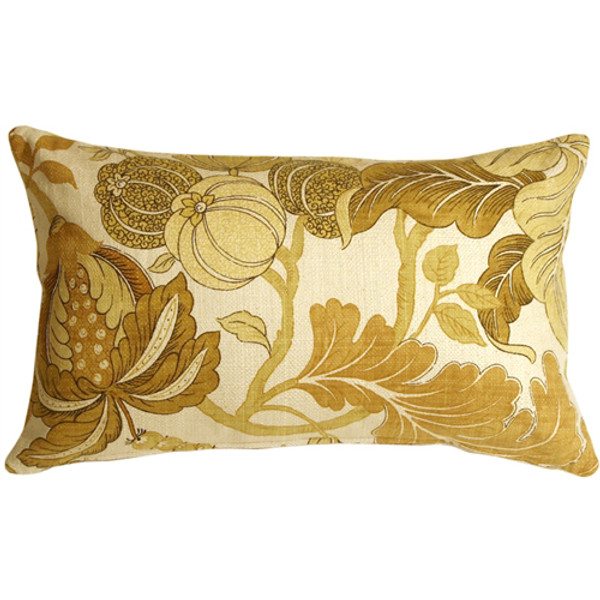 Harvest Floral Yellow 12x20 Throw Pillow