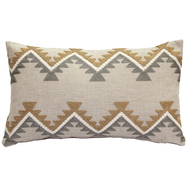 Tulum Ranch Embroidered Throw Pillow 12x20