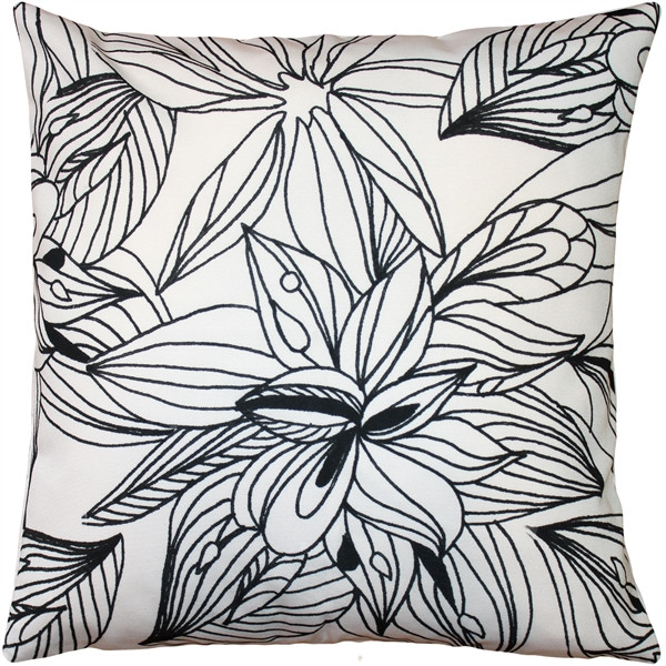 Pen and Ink Flowers Throw Pillow 20x20