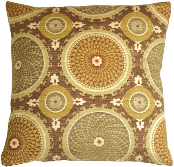 Bohemian Medallion Mulberry 20x20 Throw Pillow