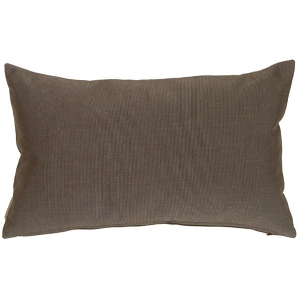 Sunbrella Coal Black 12x19 Outdoor Pillow
