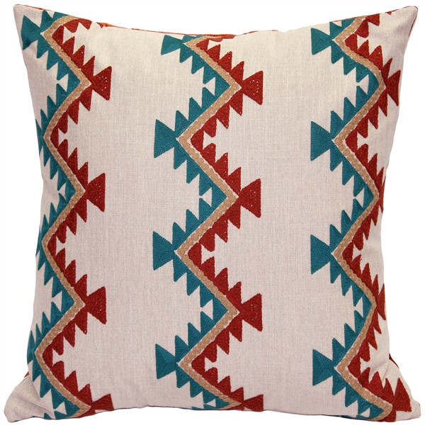 Tulum Coast Embroidered Throw Pillow 20x20
