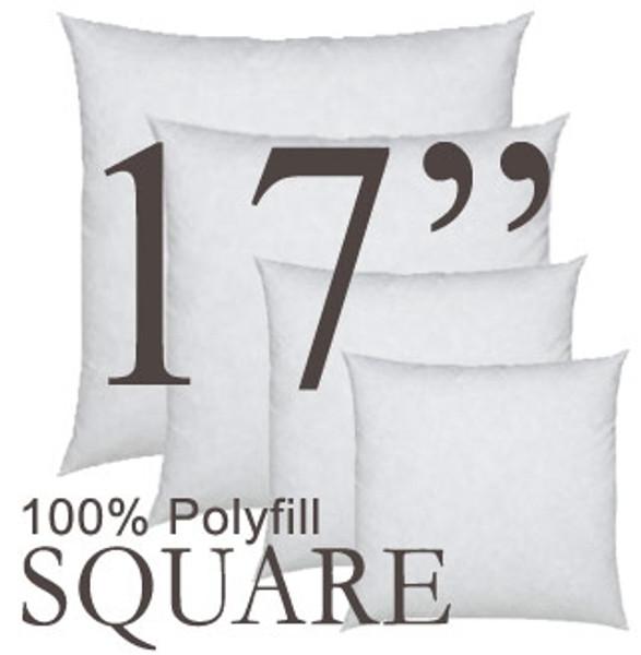 17x17 Square Polyfill Throw Pillow Insert