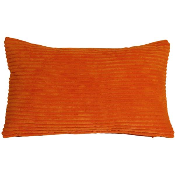 Wide Wale Corduroy 12x20 Papaya Orange Throw Pillow