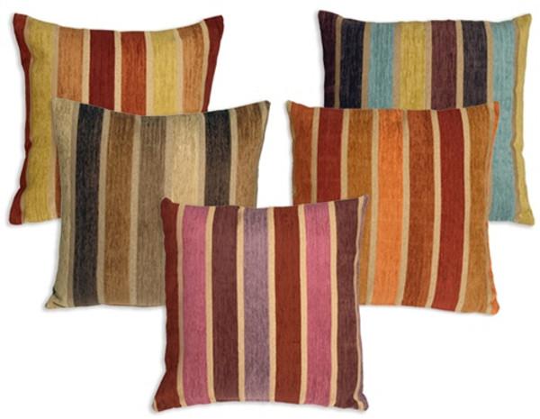Savannah Stripes 20x20 Chenille Throw Pillows