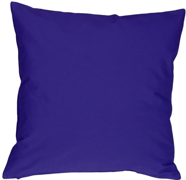 Caravan Cotton Royal Blue 20x20 Throw Pillow