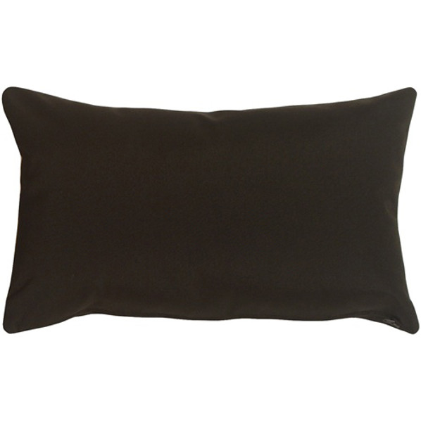 Sunbrella Black 12x19 Outdoor Pillow