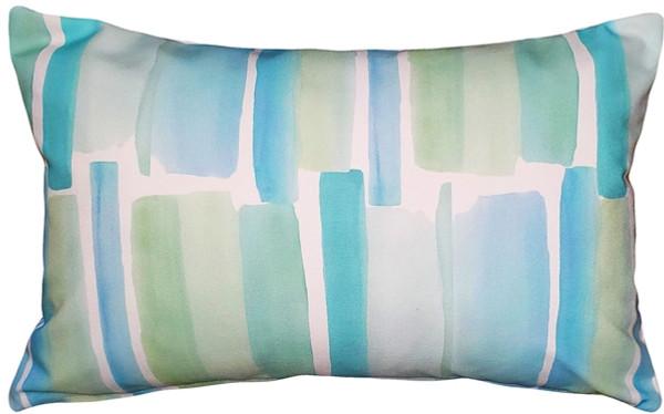 Beach Glass Blue Throw Pillow 12x20