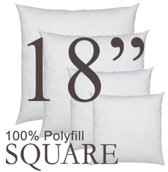 18x18 Square Polyfill Throw Pillow Insert