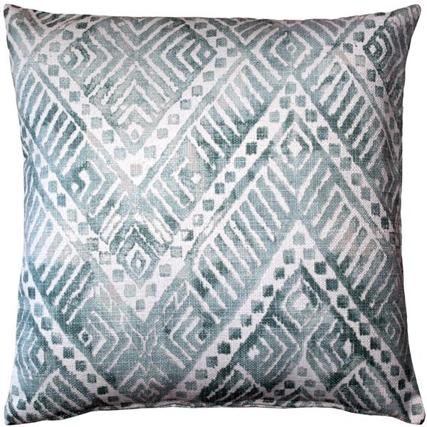 Tangga Blue Throw Pillow 20X20
