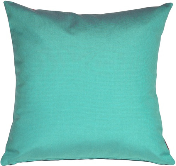 Sunbrella Aruba Turquoise Blue Outdoor Pillow