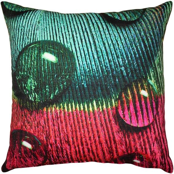 Peacock Splash GYR Throw Pillow 20x20