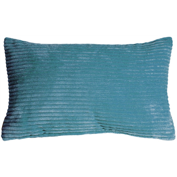 Wide Wale Corduroy 12x20 Marine Blue Throw Pillow
