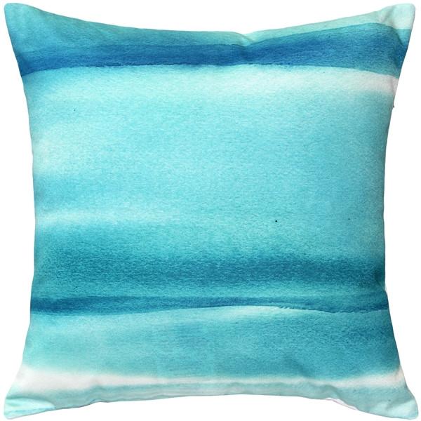 Lost Horizon Blue Throw Pillow 20x20