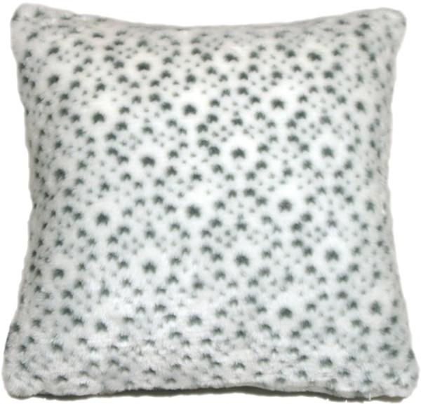 Snow Leopard Faux Fur 20x20 Throw Pillow