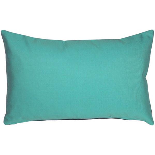 Sunbrella Aruba Turquoise 12x19 Outdoor Pillow