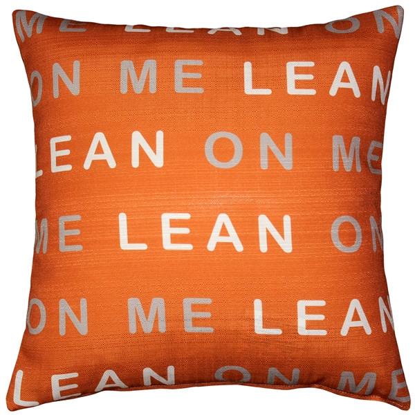 Pillow Decor's lean on me graphic pillow