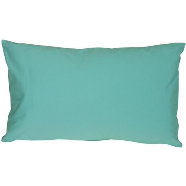 Caravan Cotton Turquoise 12x20 Throw Pillow