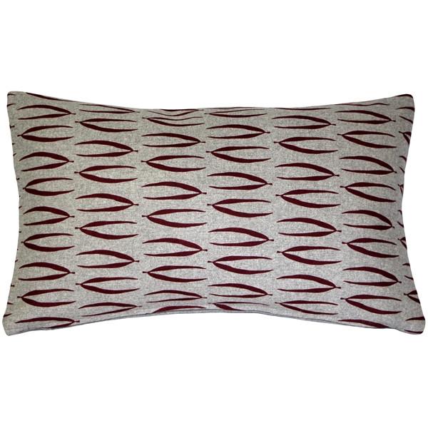 Kukamuka Eka Red Throw Pillow 12x19