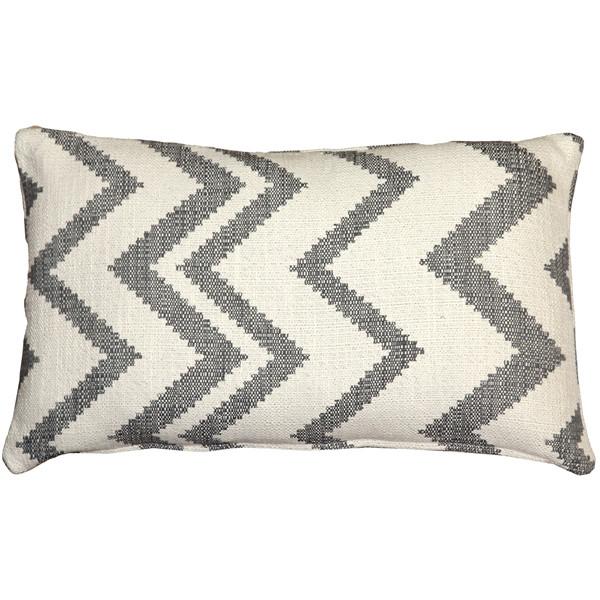 Lorenzo Zigzag Gray 12x20 Throw Pillow