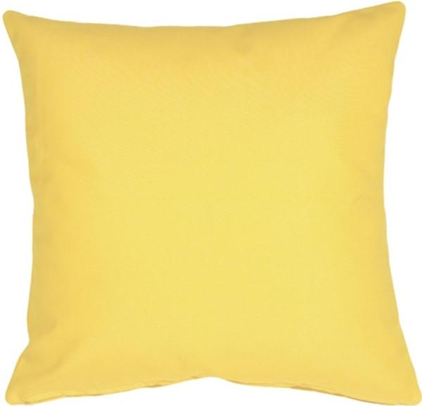 Sunbrella Buttercup Yellow 20x20 Outdoor Pillow