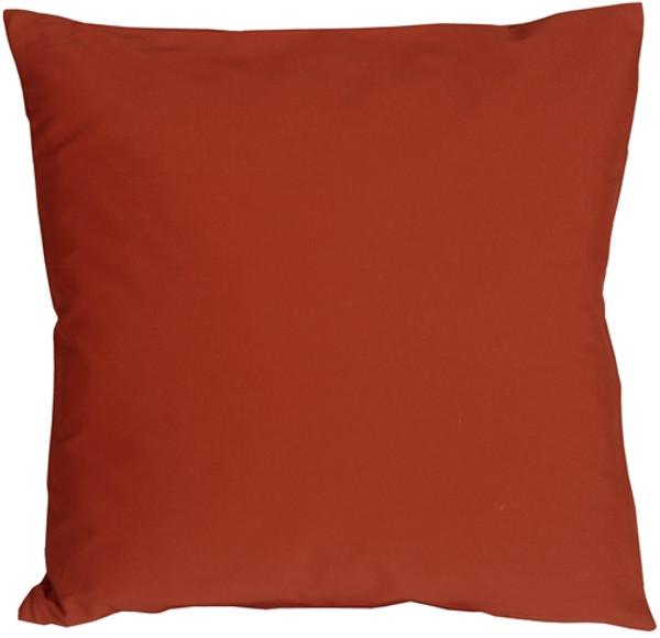 Caravan Cotton Rust 16x16 Throw Pillow