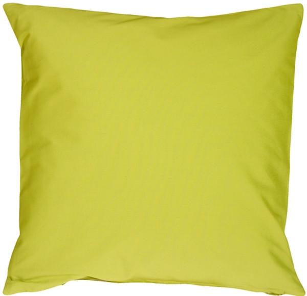 Caravan Cotton Lime Green 20x20 Throw Pillow
